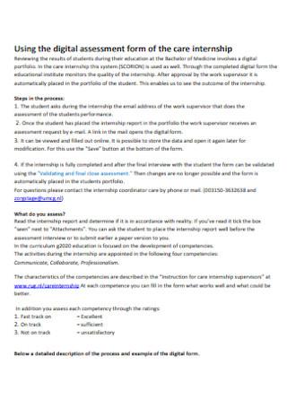 Digital Assessment for Care Internship