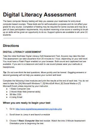 Digital Literacy Assessment