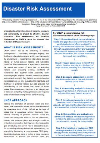 Disaster Risk Assessment