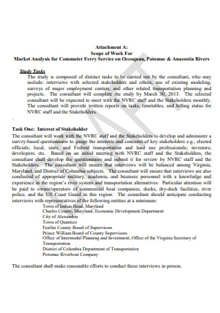 Draft Market Analysis Scope of Work