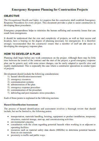 Emergency Response Planning for Construction Projects