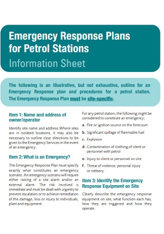Emergency Response Plans for Petrol Stations