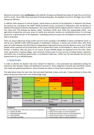 Emergency Response Preparedness Plan