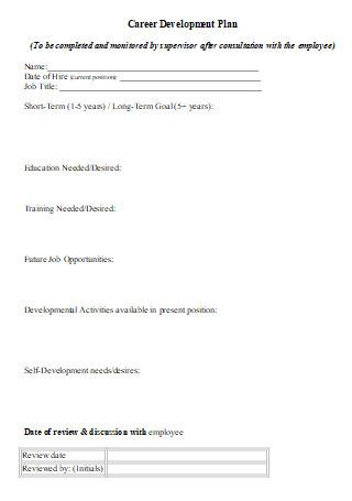Employee Career Development Plan