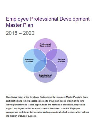 Employee Professional Development Master Plan