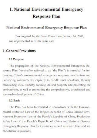 Environmental Emergency Response Plan