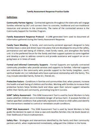 Family Assessment Format