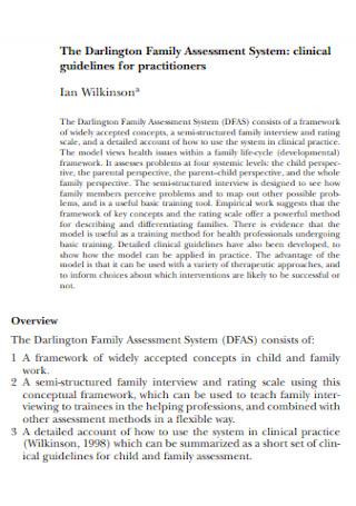 Family Clinic Assessment
