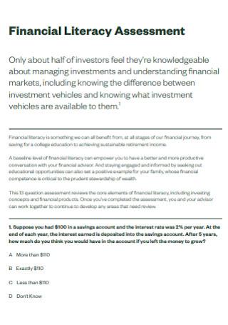 Financial Literacy Assessment