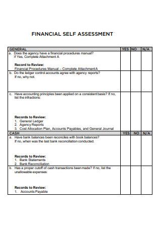 Financial Self Assessment