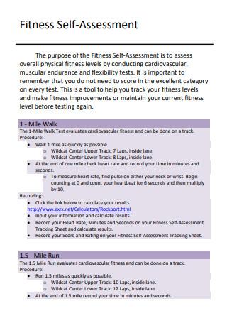 Fitness Self Assessment