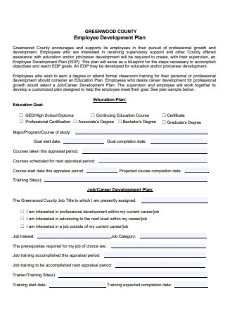Formal Employee Development Plan
