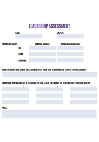 Formal Leadership Assessment