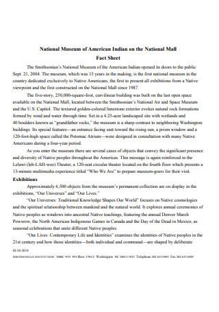 Formal Press Release Fact Sheet
