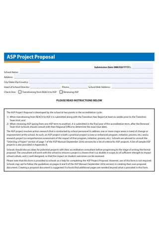 Formal School Project Proposal