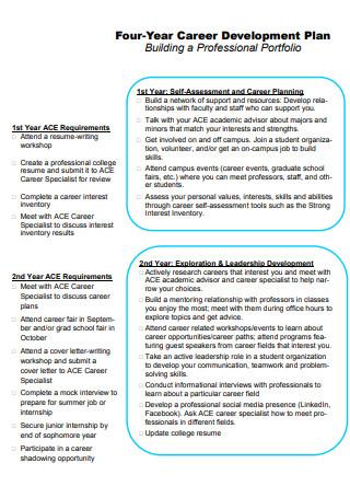 Four Year Career Development Plan