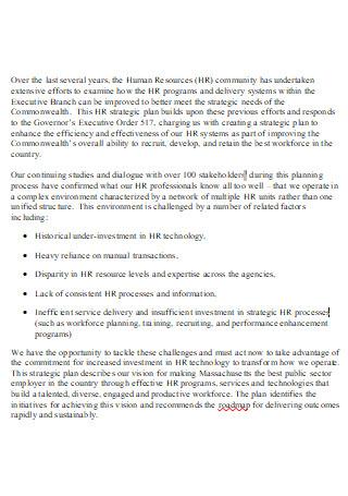 HR Strategic Plan in DOC