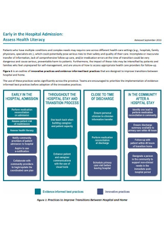 Health Literacy Assessment Example