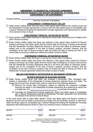 House Purchase Agreement Template