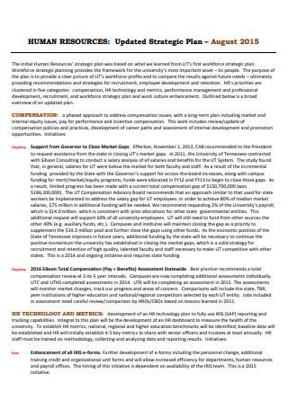Human Resouces Strategic Plan in PDF