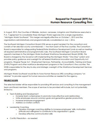 Human Resources Consulting Firm Proposal
