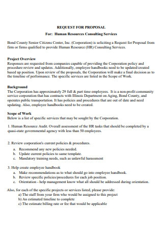 Human Resources Consulting Services Proposal Template