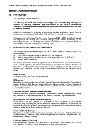 Human Resources Strategic Operational Plan1