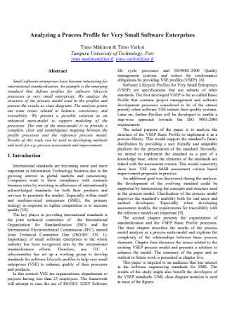IT Software Enterprises Profile
