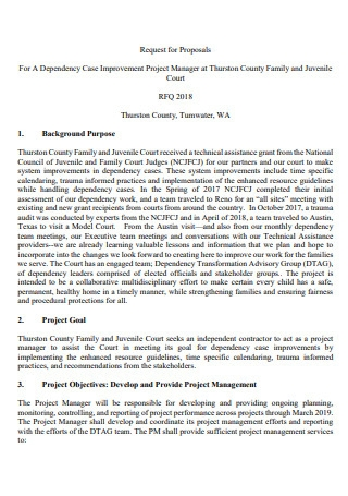 Improvement Project Manager Proposal