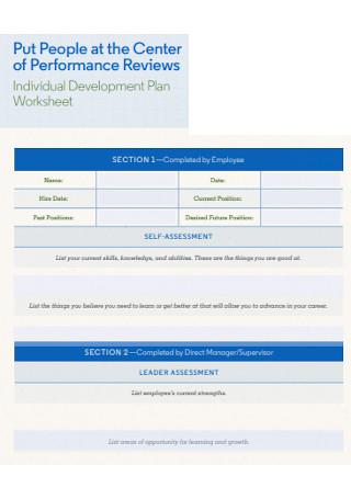 Individual Development Plan Worksheet
