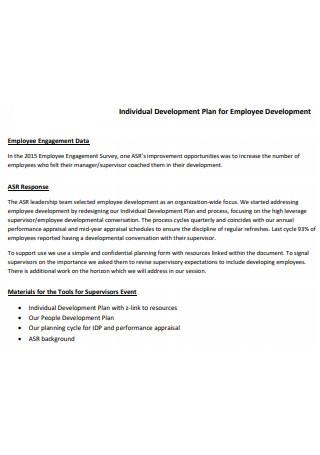 Individual Employee Development Plan