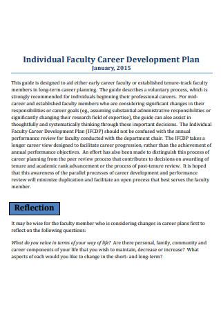 Individual Faculty Career Development Plan