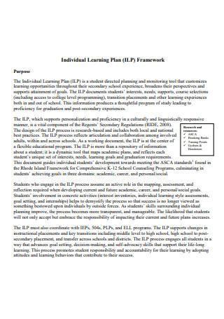 Individual Learning Plan Framework