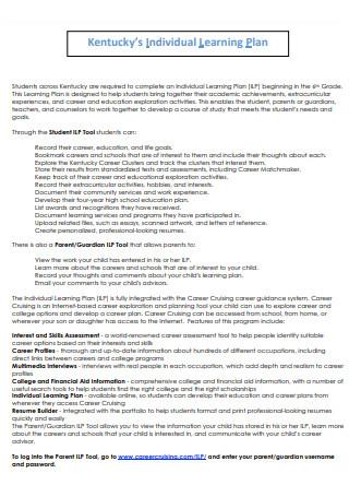 Individual Learning Plan in PDF