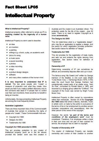 Intellectual Property Fact Sheet