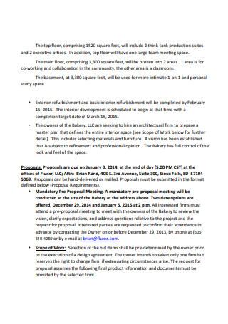 Interior Design Proposal in PDF