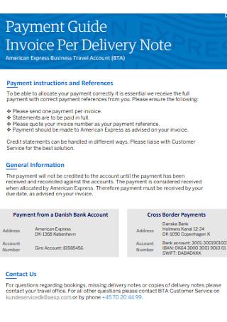 Invoice Per Delivery Note