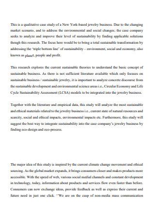 Jewelry Business Plan in PDF