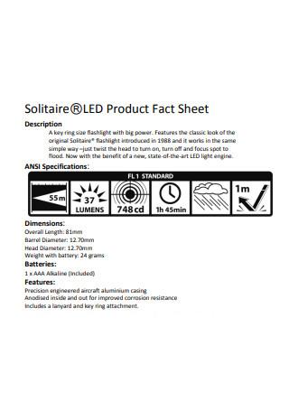 LED Product Fact Sheet