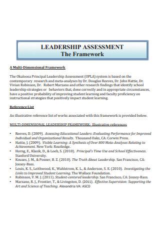 Leadership Assessment Framework