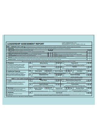 Leadership Assessment Report Template
