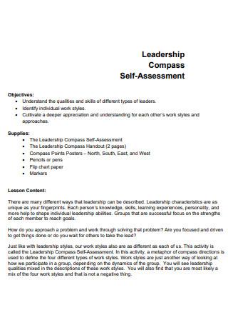 Leadership Compass Self Assessment