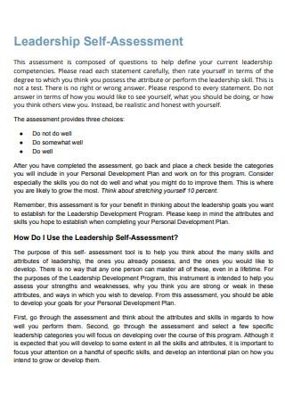 Leadership Self Assessment