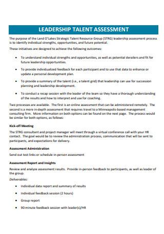 Leadership Talent Assessment