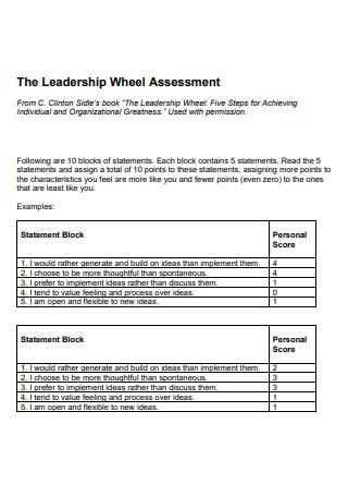 Leadership Wheel Assessment