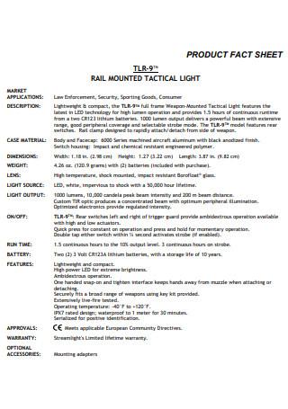 Light Product Fact Sheet