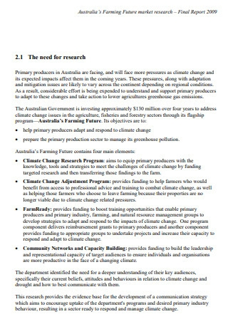 Market Research Final Report