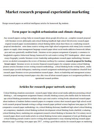 Market Research Proposal in PDF