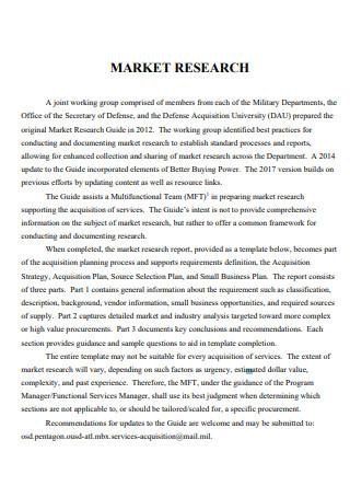 Market Research Report in PDF
