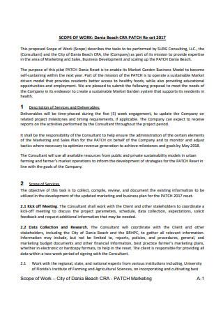 Marketing Scope of Work in PDF